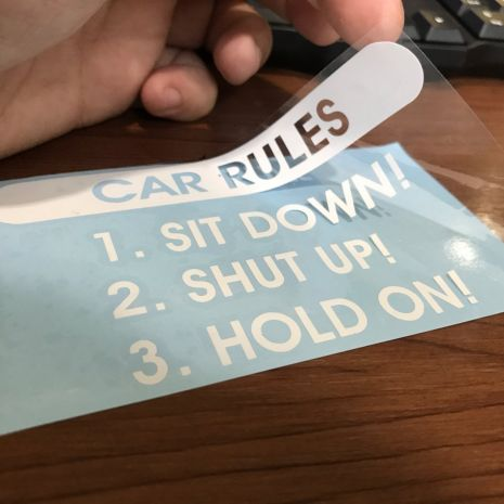 JDM Style Sticker car rules  car rules 12x6 7