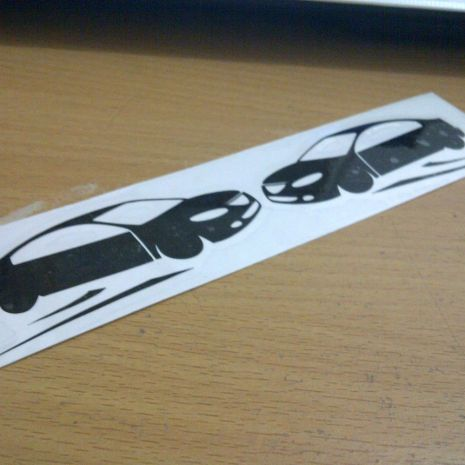 JDM Style Sticker drifting decal  drifting decal 15x3cm 7rb