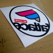 JDM Style Sticker fatlace rounded