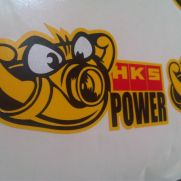 JDM Style Sticker HKS TURBO