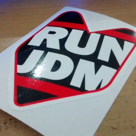 JDM Style Sticker jdm RUN jdm run 10x7cm 8rb