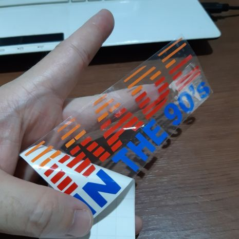 JDM Style Sticker made in 90s made in 90s