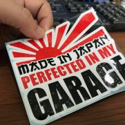 JDM Style Sticker made in garage