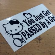 JDM Style Sticker passed by girl