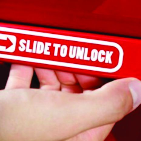 JDM Style Sticker slide to unlock  slide to unlock 8x1 7cm 5rb