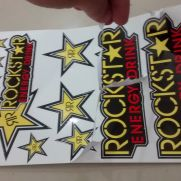 Biker Decal sticker set rockstar