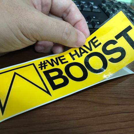 JDM Style Sticker we have boost we have boost 15x4 7cm