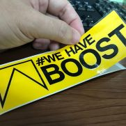 JDM Style Sticker we have boost